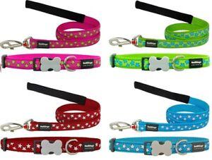 Red-Dingo-STAR-Design-Collar-Lead-Dog-Puppy-Sizes-XS-LG-FREE-P-amp-P