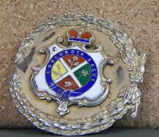 Sterling Silver Montreal Coat of Arms Buckle gilt and Enamel Concordia Salus