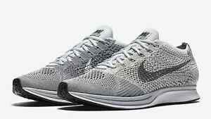 best service 6bcfe 37e5f Image is loading 2016-NIKE-FLYKNIT-RACER-PURE-PLATINUM-ALL-SIZES-