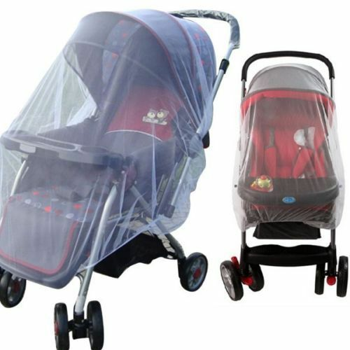 US Whtie Stroller Pushchair Mosquito Insect Net Mesh Buggy Cover for Baby Infant