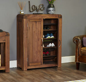 Shiro-Premium-Dark-Wood-Shoe-Cabinet-Storage-Modern-Solid-Walnut