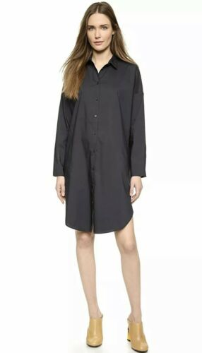Acne Studios Lash Tech Poplin Black Dress