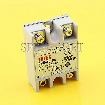 New Control Solid State Relay SSR-40DA 40A 24-380V AC Module Fast Switching