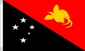 Flag Banner 150cm x 90cm Papau New Guinea 5ft x 3ft