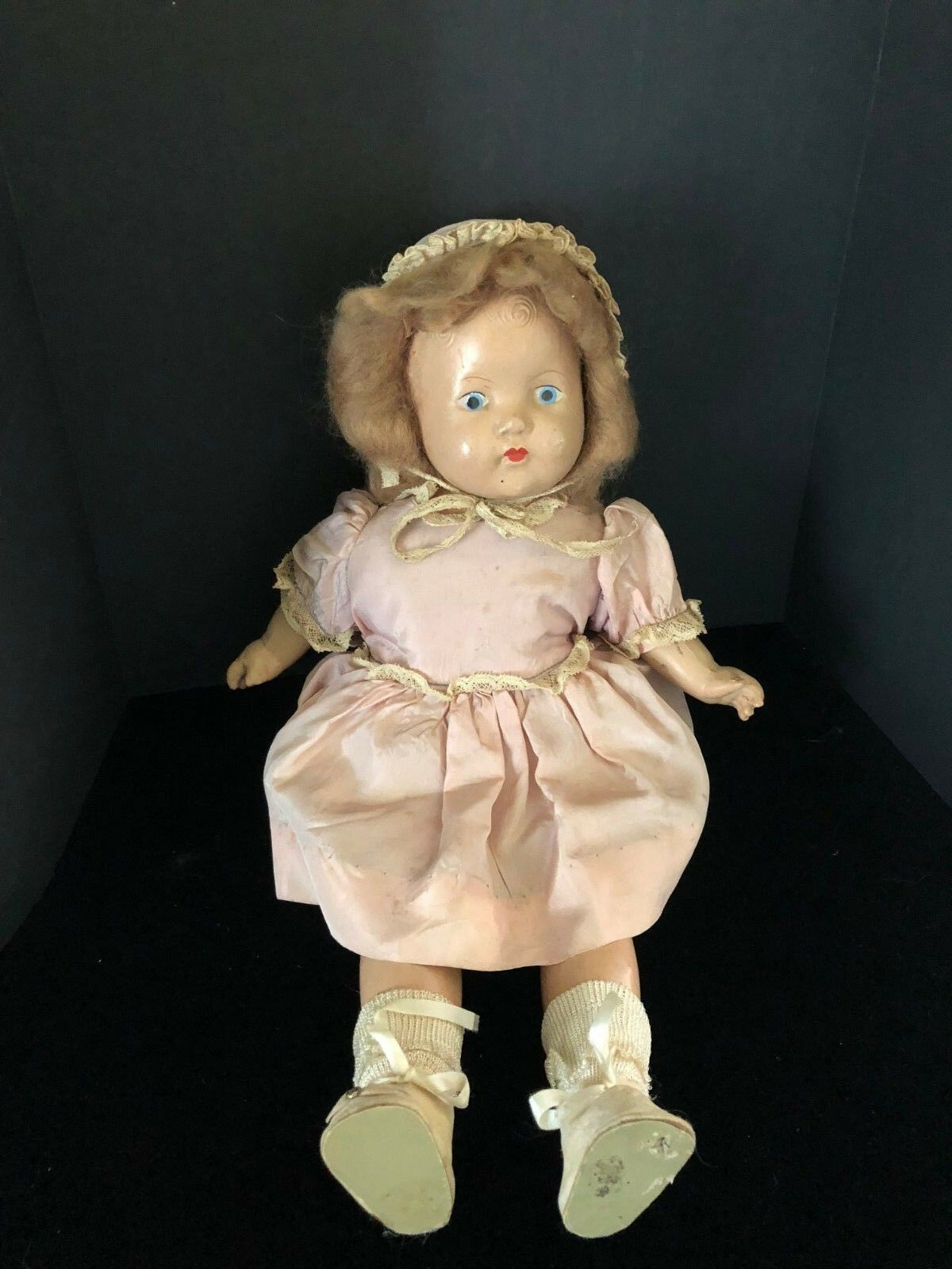 Antique Composition Baby Doll Original Clothing