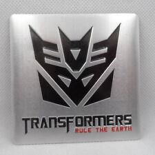 Car Transformers Decepticon Emblem Badge Trunk Side Aluminum  Destroy 8cm