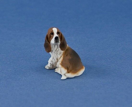 Basset Hound Hounds  Miniature Dollhouse  Picture
