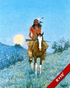 Wall Art CANVAS Print The Outlier by Frederic Remington Fine Art Giclee Small