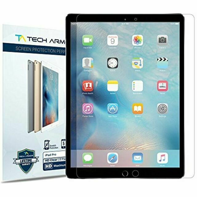 """GLASAVE Apple iPad 1 2 3 4 9.7/"""" Tempered Glass Screen Protector Clear 2 Pack"""