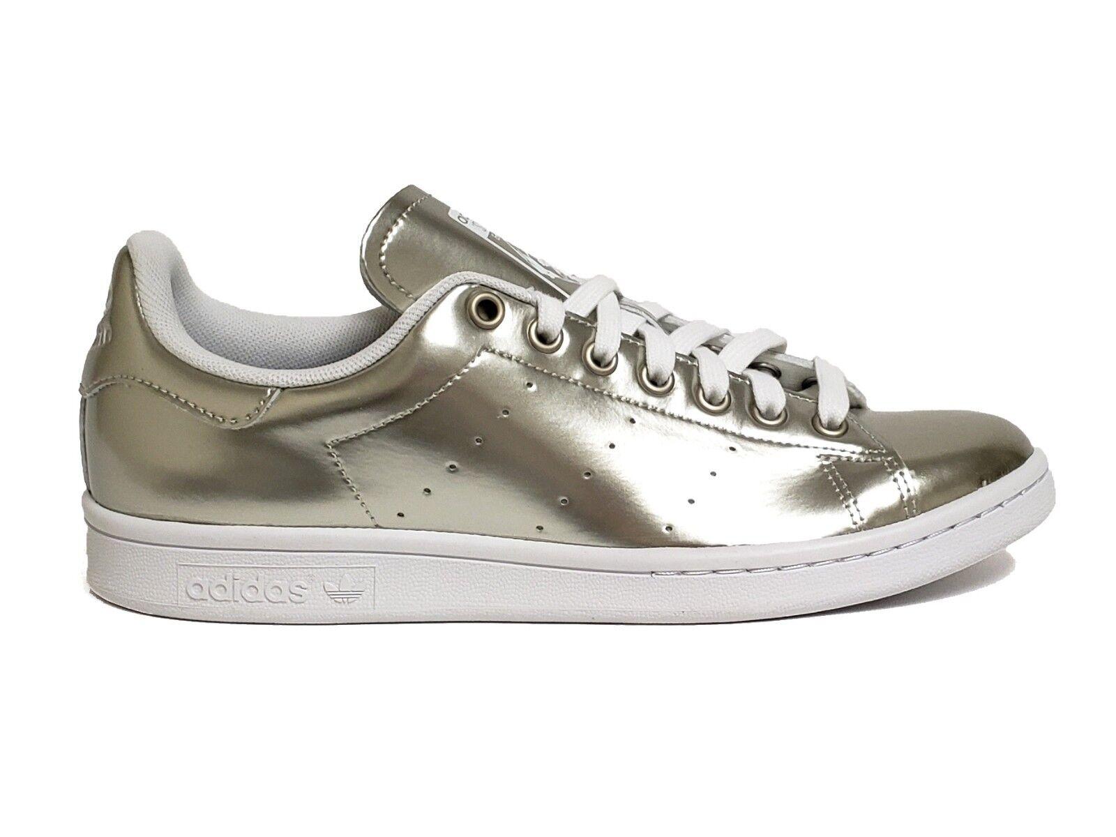 Adidas Women's STAN SMITH Shoes Cyber Metallic/White AQ6804 a Size 9