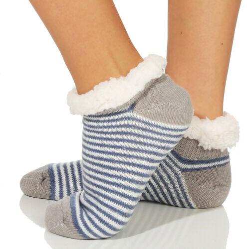 Hüttensocken Kuschelsocken Damen Socken Hausschuhe Strümpfe ABS warm Thermo
