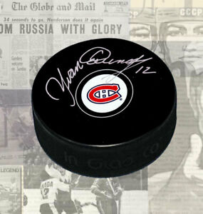 Yvan-Cournoyer-Montreal-Canadiens-Autographed-Puck
