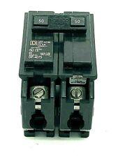 New Square D Hom250 Homeline 2 Pole 50amp 120240vac Plug In Molded Case Breaker