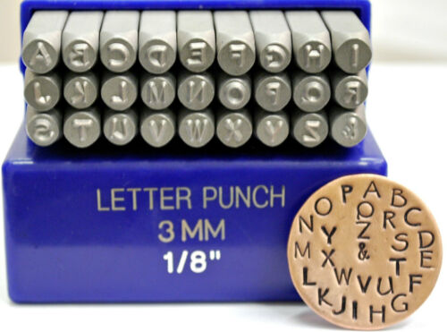 Lowercase or Combo Letter Set SUPPLY GUY 3mm Papyrus Font Metal Stamp Uppercase