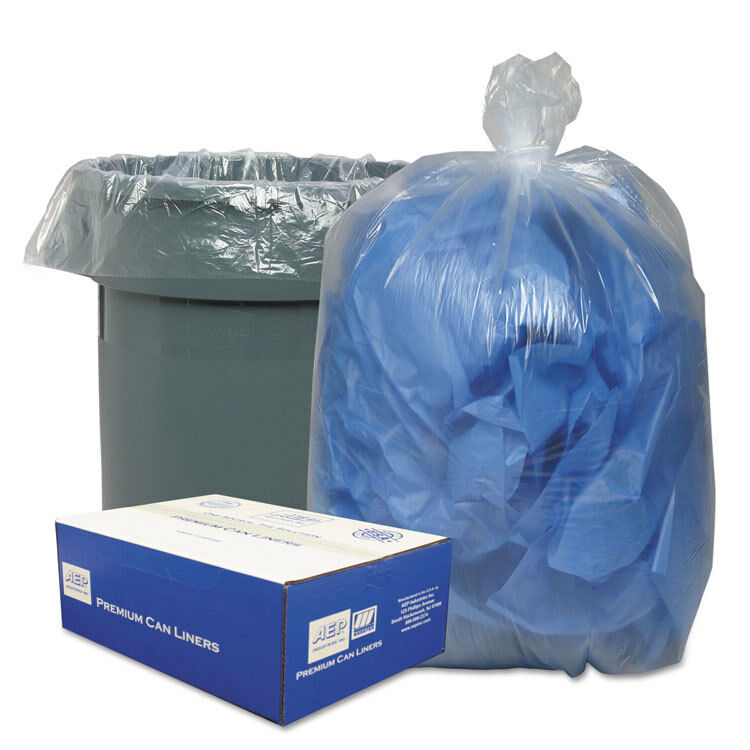 Classic Clear Clear Clear Clear Low-Density Can Liners 55-60gal .9 Mil 38 x 58 Clear 100 c79a8b