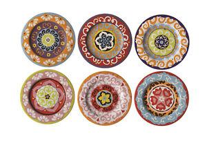 Rose-amp-Tulipani-Nador-13cm-Canape-Tapas-Side-Plates-Set-of-6-Stone-Mediterranean