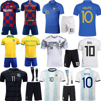 19-20 Football kits Soccer Outfits Strips Short Sleeve Kids 3-14Y Adult Jersey