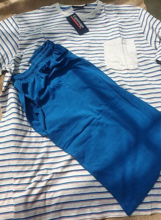 Espionage Pyjamas Short 100% Cotton Pull-Over PJ105 2XL 3XL 4XL 5XL 6xl 7xl8xl