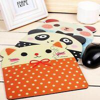1x Cartoon Animal Face Anti-slip Laptop Computer Mouse Mat Mousepad Mice Pad New
