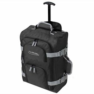 Ryanair-Cabin-Wheeled-Travel-Hand-Luggage-Trolley-Holdall-Bag-Case-Black