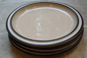 LOT-OF-4-DENBY-MADRIGAL-SALAD-PLATES-about-8-5-8-inches-across-the-top