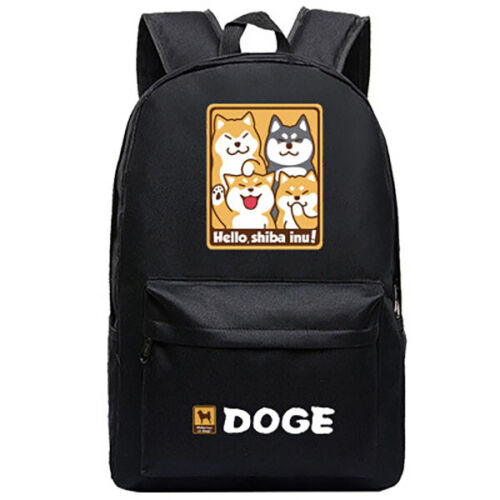 Doge Shiba Inu Toile Sac à Dos Sac D/'école Sac Bandoulière Ordinateur Sac Livre Sac