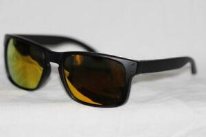 Sport Sonnenbrille Retro schwarz matt gold rot verspiegelt Herren u. Damen 751 23hIaTA