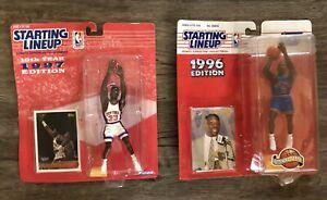 Starting Lineup NY Knicks 1997 Patrick Ewing + 1996 Larry Johnson Figure + Card