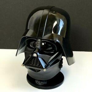1997-Riddell-INC-Star-Wars-Darth-Vader-Mini-Helmet-Removable-Hat-Pivot-Stand