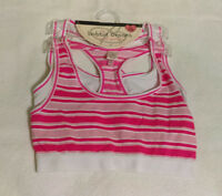 Womens Bobbie Brooks 2 Pack Sports Bra Size S/m 30-32 Pink/white