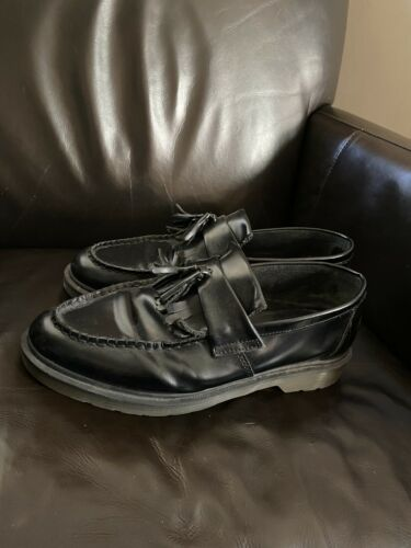 Dr. Martens Adrian Leather Tassel Loafers Black Si