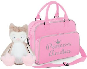 51502968c7b0a Image is loading Personalised-baby-changing-nappy-travel-pram-bag-princess-