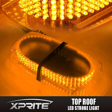 240 LED Emergency Hazard Flash Strobe Mini Light Bar Yellow Amber Magnetic Base