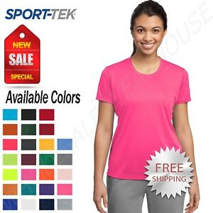 Sport-Tek-Womens-Dry-Fit-Workout-PosiCharge-Moisture-Wicking-T-Shirt-M-LST350