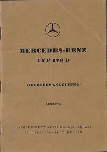MERCEDES-Typ-170-D-Betriebsanleitung-1949-Bedienungsanleitung-Handbuch-BA