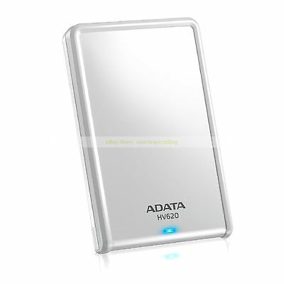 "Adata White Ext HDD 2TB 2T HV620 USB3.0 2.5"" Portable External Hard Disk New 620"