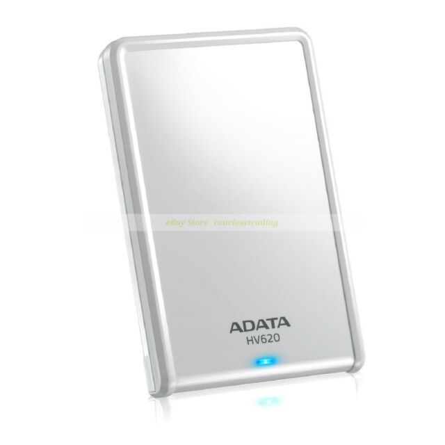 "Adata White Ext HDD 2TB 2T HV620 USB3.0 2.5"" Portable External Hard Disk New 620"