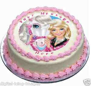 Image Is Loading Barbie Horse Cake Topper Edible Icing Birthday