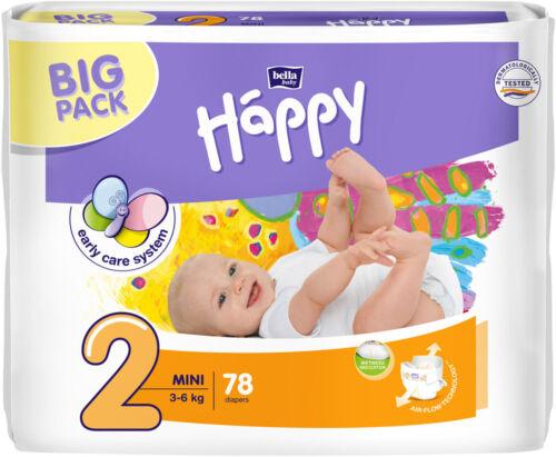Happy Bella Baby Midi Windeln Gr 2; 3; 4; 4+; 5; 6  Big Pack
