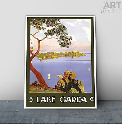 16x24 Lago di Garda Tremonsine Italy 1924 Vintage Style Travel Poster