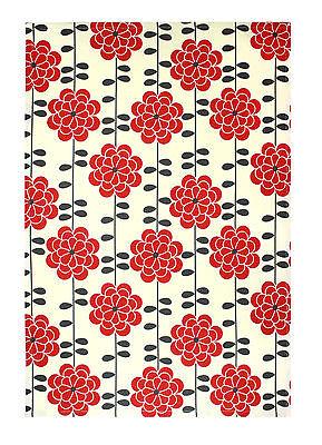 MU Kitchen Cotton Tea Towel Aster Red - NEW