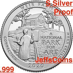 Mint 2020 P/&D Weir Farm National Historic Site Connecticut Park Quarters U.S