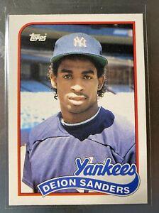 DEION SANDERS 1989 Topps Traded #110T ROOKIE RC NY Yankees Baseball Card