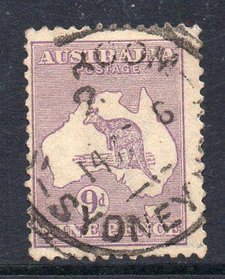 Herzhaft Australien 1915 9d Roo Wmk W5 Sg 27 Gebraucht Cv Seien Sie In Geldangelegenheiten Schlau Briefmarken Australien