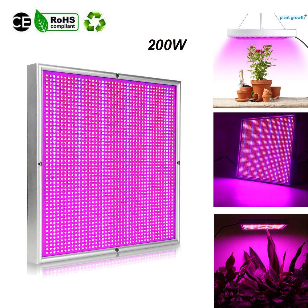 200W LED Wachsen Licht Lampe Voll spektrum Light Indoor Zimmer Pflanzenlampe DE