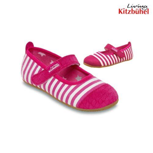 Pink Ballerina Stripes New Living Kitzbuhel Boiled Wool Youth Girl Slipper Shoe