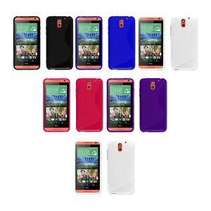 Para-HTC-Desire-610-GEL-de-SILICONA-S-LINE-y-Pantalla-Protectora-Funda