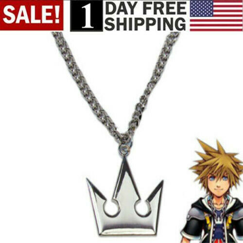 New Kingdom Hearts Sora Crown Necklace Pendant Charm Cosplay Hot
