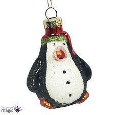 Gisela Graham Paillettes Vetro Festive Pinguino Decorazioni Albero Di Natale