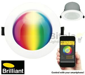 NEW-BRILLIANT-SPECTRUM-BLUETOOTH-SMART-RGB-9w-LED-DOWNLIGHT-HOME-AUTOMATION